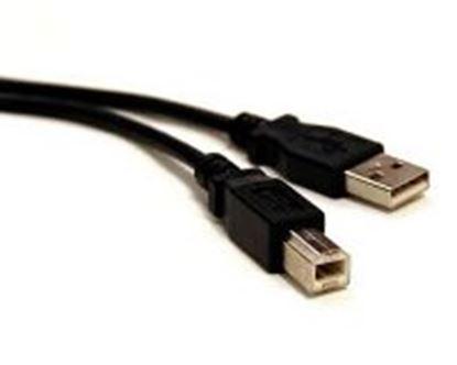 Imagen de PAQ. C/3 - DTC - B-ROBOTIX - CABLE USB V2.0 A-B NEGRO 3.00 MTS.