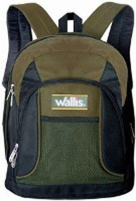 Imagen de WALLIS - 2 COMPARTIMIENTOS CON CIERRE, 31.5X41X12.5 CM, VERDE OLIVO/NEGRO