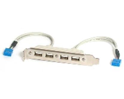 Imagen de PAQ. C/2 - STARTECH - BRACKET USB A HEMBRA 4 PUERTOS ADAPTADOR .