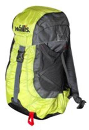 Imagen de WALLIS - SIVALIK 30 L, VARILLA Y SOPORTE DE PVC, 28X55X21 CM, VERDE CON NEGRO