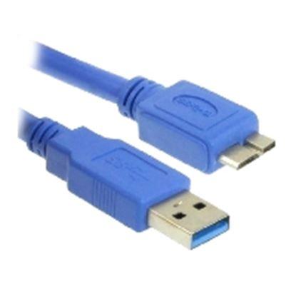 """Imagen de DTC - B-ROBOTIX - CABLE USB V3.0 TIPO """"A"""" - MICRO """"B"""", MACHO, AZUL, 1.8 M"""
