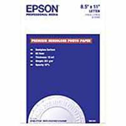 Imagen de EPSON - PAPEL PREMIUM SEMIGLOSS PHOTO 20 HOJAS TAM. CARTA 8.5 X 11