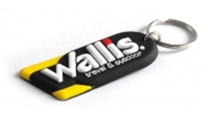 Imagen de PAQ. C/5 - WALLIS - LLAVERO WALLIS PVC, NEGRO CON BALNCO Y AMARILLO
