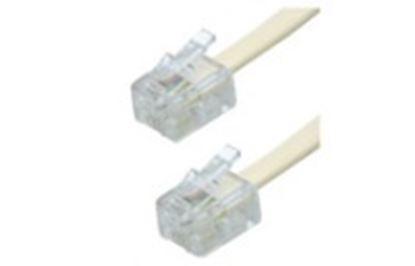 Imagen de PAQ. C/10 - STEREN - CABLE TELEFÓNICO PLUG A PLUG, PARA EXTENSIONES, DE 10 M