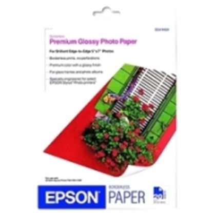Imagen de PAQ. C/2 - EPSON - PAPEL BORDERLESS PREMIUM GLOSSY PHOTO 20 HOJAS 5 X 7