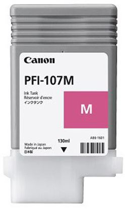 Imagen de CANON - TANQUE DE TINTA PFI 107M MAGENTA 130ML IPF 670 / 770
