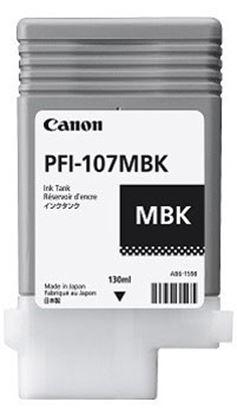 Imagen de CANON - TANQUE DE TINTA PFI 107MBK NEGRO MATTE 130ML PARA IPF 670/770