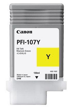 Imagen de CANON - TANQUE DE TINTA PFI 107Y AMARILLO 130ML PARA IPF 670 / 770