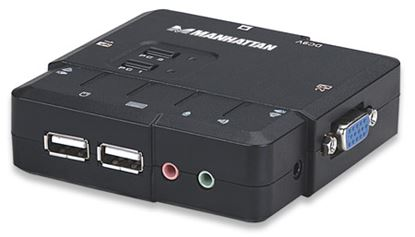 Imagen de INTELLINET - MUX KVM DESKTOP USB 2:1 CON CABLES+AUDIO