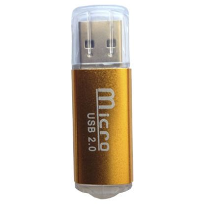 Imagen de PAQ. C/3 - DTC - B-ROBOTIX - LECTOR USB V2.0 MICRO SD COBRE METÁLICO