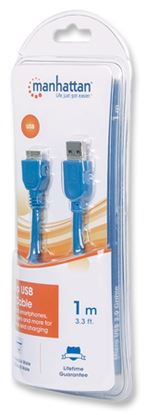 Imagen de MANHATTAN - CABLE USB V2.0 A-B  1.8M, PLATA