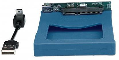Imagen de MANHATTAN - GABINETE HDD 2.5 SATA, USB V2.0 SIL AZUL