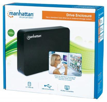 Imagen de MANHATTAN - GABINETE HDD 3.5 SATA, USB V2.0 NEGRO