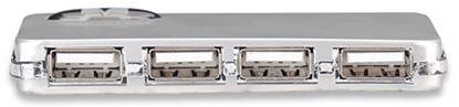 Imagen de MANHATTAN - HUB USB V2.0  4 PTOS MINI CON FUENTE