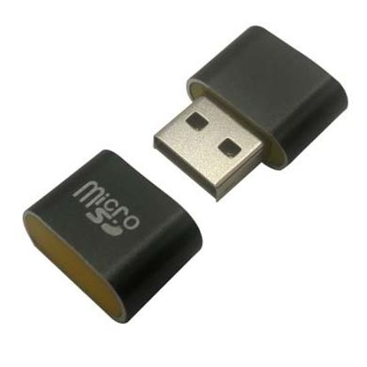 Imagen de PAQ. C/5 - DTC - B-ROBOTIX - LECTOR USB V2.0 MICRO SD MINI NEGRO