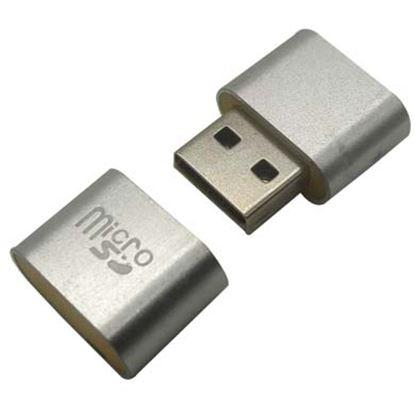 Imagen de PAQ. C/3 - DTC - B-ROBOTIX - LECTOR USB V2.0 MICRO SD MINI PLATA