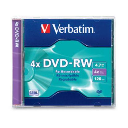 Imagen de PAQ. C/10 - VERBATIM - DVD-RW INDIVIDUAL CAJA DELGADA 4.7GB 4X