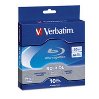Imagen de VERBATIM - BLU-RAY 6X 50GB GRABABLE DOBLE CAPA 10 PZAS CAMPANA HARD COAT