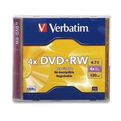 Imagen de PAQ. C/20 - VERBATIM - DVD+RW 4X 4.7GB 120MIN REGRABAB CAJA INDIVIDUAL VERBATIM