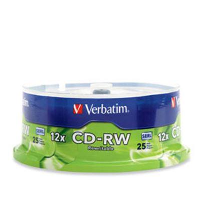 Imagen de VERBATIM - CD-RW 12X 700MB 80MIN REGRABABL 25 PZAS CAMPANA VERBATIM