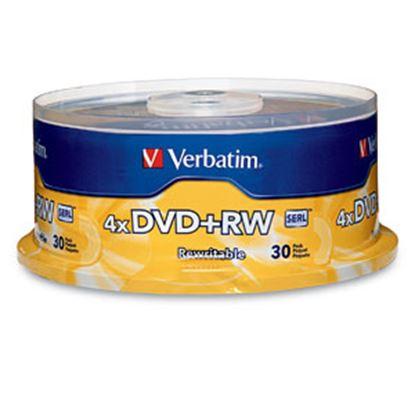 Imagen de VERBATIM - DVD+RW 4X 4.7GB 120MIN REGRABAB 30 PZAS CAMPANA VERBATIM