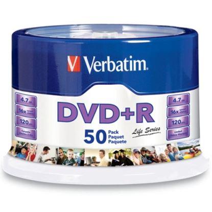 Imagen de VERBATIM - DVD-R 16X 4.7GB 120MIN GRABABLE 50 PZAS CAMPANA LIFE VERBATIM