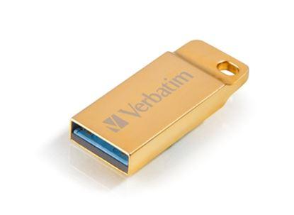 Imagen de VERBATIM - MEMORIA USB 3.0 32GB METAL EXECUTIVE RISISTENTE AL AGUA GOLD
