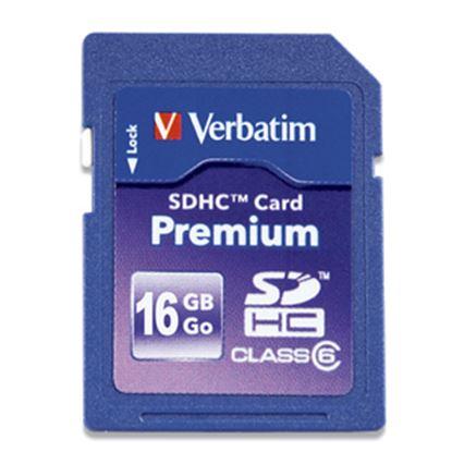 Imagen de PAQ. C/3 - VERBATIM - MEMORIA SDHC 16GB PREMIUM CLASE 10 UHS-I V10 U1 VERBATIM