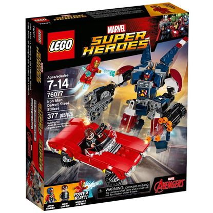 Imagen de LEGO - 76077 MARVEL SUPER HEROES IRON MAN DETROIT STEEL STRIKES 377 PZAS
