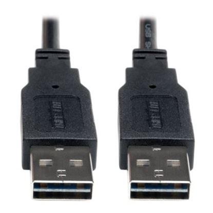 Imagen de PAQ. C/2 - TRIPLITE - CABLE USB 2.0 ALTA VELOCIDAD UNIV REVERSIBLE M/M 1.83 M ¦6 PIES¿
