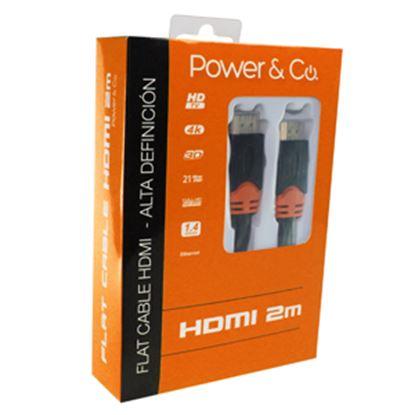 Imagen de PAQ. C/2 - POWER & CO - CABLE POWER & CO. HDMI 3D FULL HD/2M/PLANO CONECTOR NARANJA