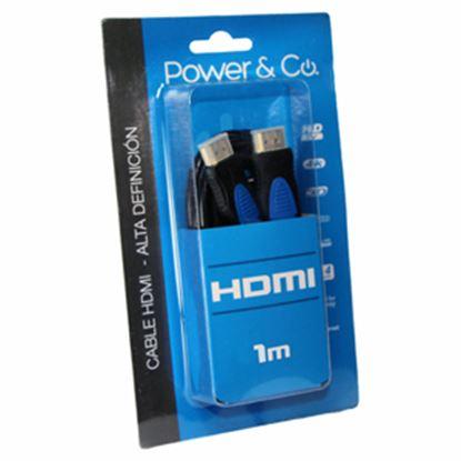 Imagen de PAQ. C/3 - POWER & CO - CABLE POWER & CO. HDMI 3D FULL HD / 1M DE LARGO / AZUL