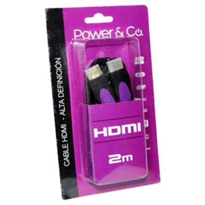 Imagen de PAQ. C/3 - POWER & CO - CABLE POWER & CO. HDMI 3D FULL HD / 2M CONECTOR MORADO