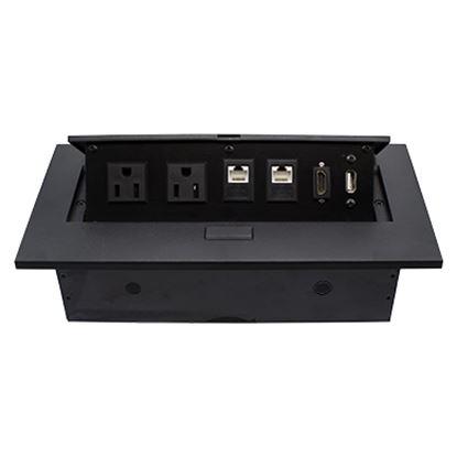 Imagen de DTC - B-ROBOTIX - CAJA PARA MESA HDMI + USB + 2 PUERTOS RJ45 + 2 PUERTOS DE CORRIENTE, COLOR NEGRO