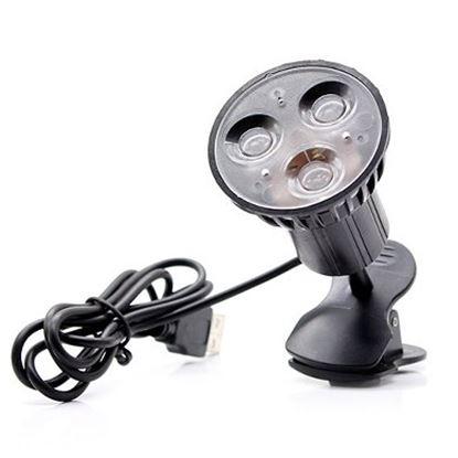 Imagen de PAQ. C/2 - DTC - B-ROBOTIX - LAMPARA USB 6 SUPER LED DE CLIP NEGRA