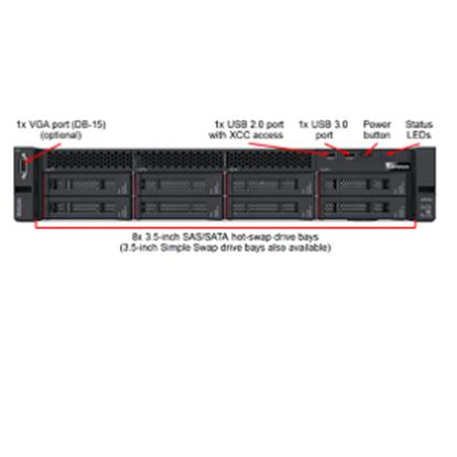 Imagen de LENOVO - SR550 BRONZE 3104 6C 1.7GHZ 8GB +NOHD 750W RAID5308I 3YR SERVICE PA