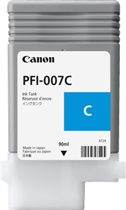 Imagen de CANON - CANON INK TANK PFI-007C DYE CYAN INK TANK 90ML