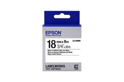 Imagen de EPSON - LABELWORKS STANDARD TAPE LK-5WB N BLACK/WHITE 18MM