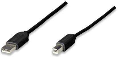 Imagen de PAQ. C/10 - IC - CABLE USB A-B 1.8M IMPRESORA NEGRO