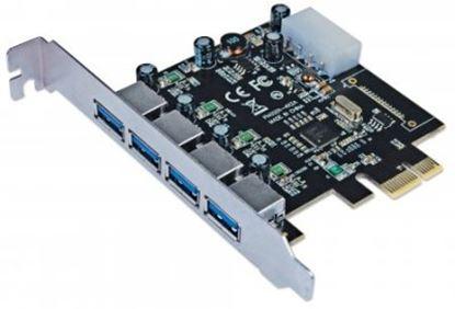Imagen de IC - TARJETA PCI EXPRESS USB 3.0 4 PUERTOS BRACKET LARGO ESTANDAR
