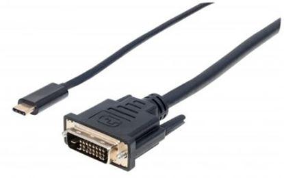 Imagen de IC - CABLE ADAPTADOR CONVERTIDOR USB-C A DVI-D 2.0M 1080P M-M