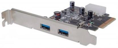 Imagen de IC - TARJETA PCI EXPRESS USB 3.1 2 PUERTOS BRACKET LARGO Y CORTO