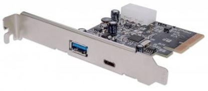 Imagen de IC - TARJETA PCI EXPRESS 2 PUERTOS USB 3.1 USB-C BRACKET LARGO Y CORTO