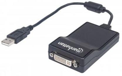 Imagen de IC - CABLE ADAPTADOR CONVERTIDOR USB 2.0 A DVI-I 1080P M-H