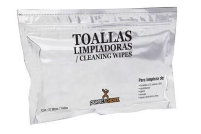 Imagen de PAQ. C/10 - PERFECT CHOICE - TOALLAS LIMPIADORAS PARA NOTEBOOK Y PANTALLAS LCD
