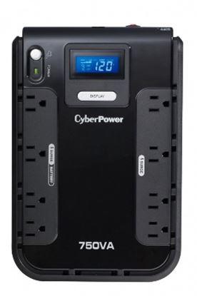 Imagen de CYBER POWER - NOBREAK UPS CYBERPOWER CP750 750VA/420W LCD COMPACTO RJ11/45 US