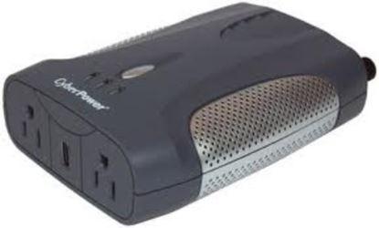 Imagen de CYBER POWER - INVERSOR DE ENERGIA CYBERPOWER 12V A 120V 400W USB 2 CONTACTOS .YW