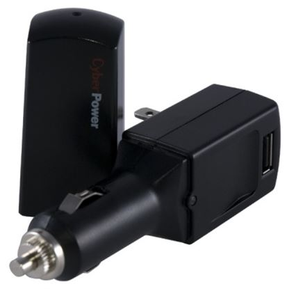 Imagen de CYBER POWER - CARGADOR PORTATIL CYBERPOWER 1 USB DC AUTO CONTACTO P/ CASA 2.W