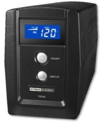 Imagen de CYBER POWER - NOBREAK CYBERENERGY 750VA LCD 420W 6CONT 120V TEL USB C/REG USB
