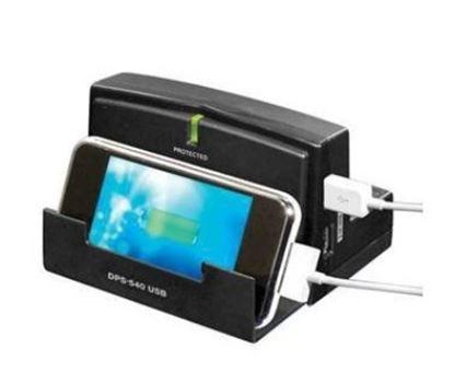 Imagen de KOBLENZ - ESTACION DE CARGA DPS-540 USB IPAD / TABLET 3 CONTACTOS 2 USB